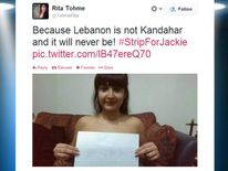 Twitter user Rita Tohme shows her support for Jackie Chamoun