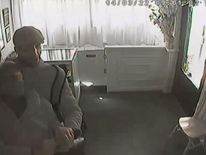 A still of the DEVON robbery CCTV footage.