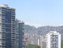 View of Rocinha favela in Rio de Janeiro from England team's hotel