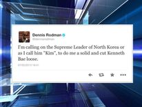 Dennis Rodman's tweeted request to Kim Jong Un