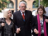 Rolf Harris and Bindi Harris (L)