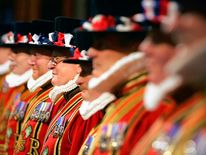 Beefeaters at the state opening of Parliament
