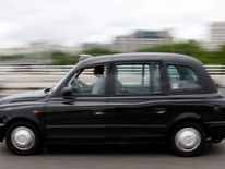 A London taxi made by Manganese Bronze