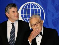 Gordon Brown and former US Secretary of State Henry Kissinger