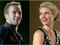 Combo picture of singer Chris Martin of Coldplay and actress Gwyneth Paltrow