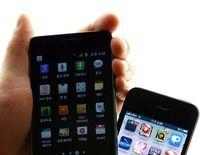 Samsung and Apple smartphones