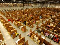 An Amazon distribution centre in Scotland