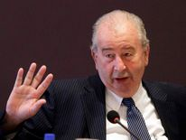 Argentine Football Association President Julio Grondona gestures during a meeting in Luque
