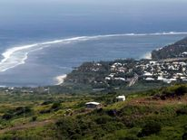 General view of the Indian Ocean island of La Reunion