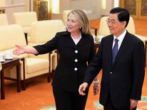 Hillary Clinton and China's President Hu
