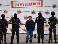 Two security force members in Caracas, Venezuela