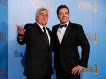 Late night talk show hosts Jay Leno and Jimmy Fallon