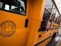 A New York City Board of Education school bus