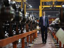George Osborne at the Lucchini UK factory in Manchester
