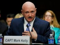 Former Navy Captain Mark Kelly testifies during gun control hearing in Washington