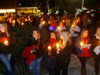 Over a hundred people gathered at City Hall for a candlelight vigil in Midland City, Alabama