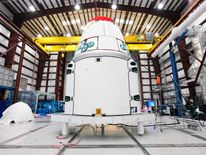 The Dragon capsule that is being taken to the ISS by the SpaceX rocket