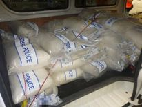 A portion of the seized 1290lbs of drug known as 'ice'