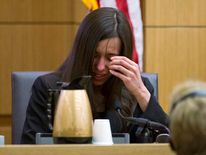 Jodi Arias testifies from the witness stand in Maricopa County Superior Court in Phoenix