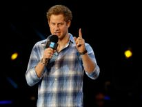 Prince Harry speaks at the WE Day UK event at Wembley Arena in London