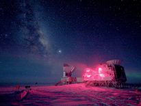 The 10-meter South Pole Telescope and the BICEP Telescope at Amundsen-Scott South Pole Station