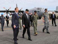 Tony Abbott and Malaysia's Prime Minister Najib Razak
