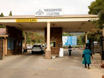 A view of the entrance of Pretoria's Weskoppies hospital.