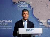 NATO Secretary General Anders Fogh Rasmussen speaks at Chatham House in London