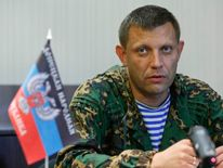 Zakharchenko, prime minister of the self-proclaimed Donetsk People's Republic, attends a news conference in Donetsk