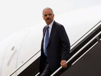 U.S. Attorney General Eric Holder arrives at Lambert?St. Louis International Airport
