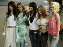 The members of pop group Girls Aloud in 2005