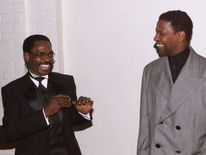 Rubin 'Hurricane' Carter with actor Denzel Washington