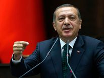 Turkey's PM Erdogan addresses members of parliament in Ankara