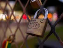 Padlocks honouring former South African President Nelson Mandela have been placed on a fence in Durban