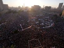 Anti-Mursi protesters in Tahrir Square