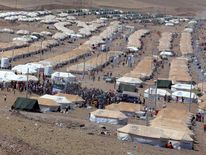 Quru Gusik refugee camp is seen on the outskirts of Arbil in Iraq's Kurdistan region