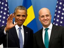 US President Barack Obama and Swedish Prime Minister Fredrik Reinfeldt