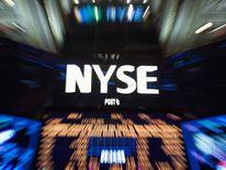 The logo of the New York Stock Exchange