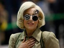 Lady Gaga arrives at Narita international airport, east of Tokyo