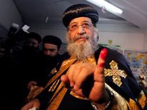 Pope Tawadros II, Pope of the Coptic Orthodox Church.