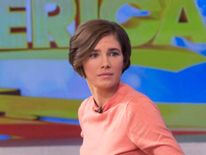"Amanda Knox turns after being interviewed on ABC's ""Good Morning America"" in New York"