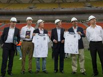England coach Roy Hodgson at the Arena Amazonia soccer stadium