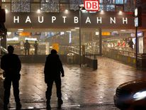 German police secure the main train station in Munich