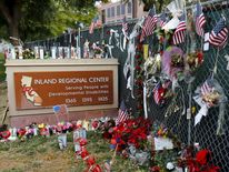 Memorial outside Inland Regional Center, San Bernardino