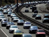 Vehicles are stuck in a seasonal traffic jam in Niort