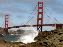 San Francisco, Golden Gate Bridge.