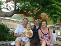 Alex D'Jamoos and his adopted family in the US