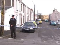 The scene in Pontyberem where a dog was seized after a baby died