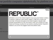 The Republic promotion on the TPG website after administration was announced