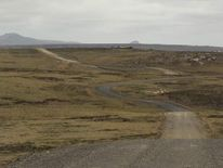 The road from Darwin to Stanley on the Falkland Islands